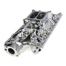 Polished Aluminum Small Block Ford Intake Manifold 60's-70's SBF 260 289 302 5.0 image 3
