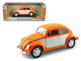 1967 Volkswagen Beetle Orange/White 1/18 Diecast Model Car by Greenlight - $59.49