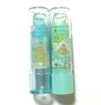 Sumikkogurashi Eraser Lip Type Case Cute Rare Cute Light Green Light Blue - $11.29