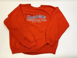 Vintage Shook And Waller Construction Santa Rosa, CA Crewneck Sweatshirt Red 2XL - $29.99