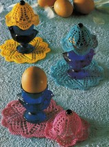 Round Table Placemats Centerpiece Hot Pad Coaster Egg Warmers Crochet Pa... - $8.99