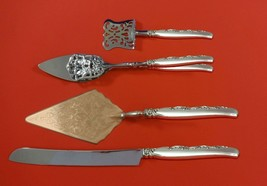 Flower Lane by Oneida Sterling Silver Dessert Serving Set 4pc Custom Made - $299.00