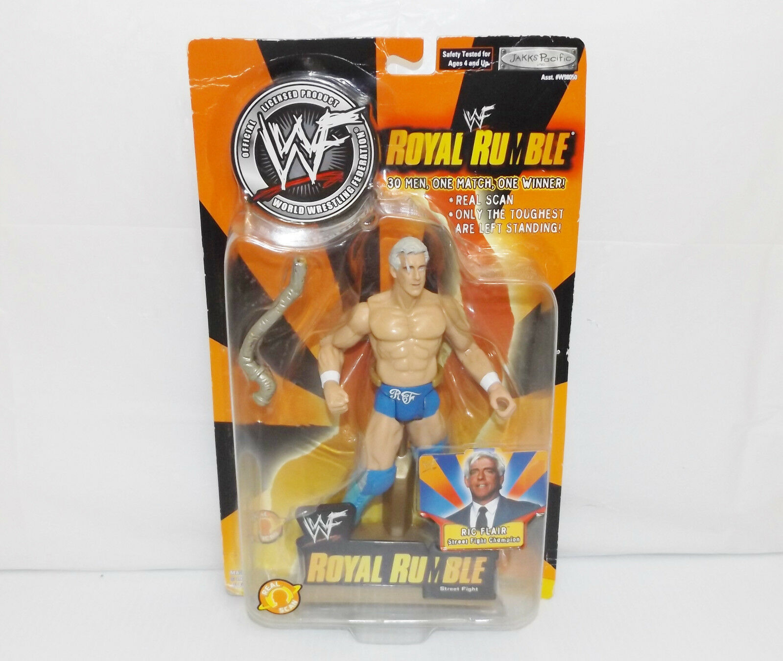 "New! 2002 Jakk's Pacific Royal Rumble ""Ric Flair"" Action Figure WWF WWE [895]"
