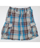Children's Place Boys Plaid Cargo Shorts Waist ... - $7.69