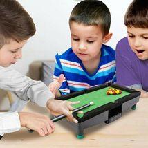 "9"" Travel Mini Pool Table 2 Sticks 16 Balls & Rack Kids / Office Desk Decoration image 3"