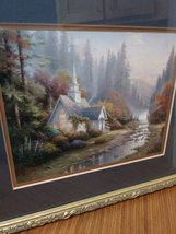 Thomas Kinkade Lithogragh  The Forest Chapel  (Chapel of Nature 11) Art Work image 2