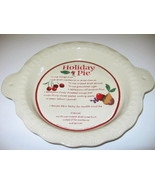 Hallmark Meredith Corp Holiday Pie Recipe Decorative Plate Wall Decor - $19.99