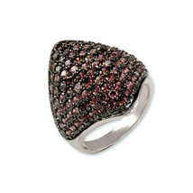 2CTW Pave Dome Style Brown Cz Cubic Zirconia Ring Bridal - $44.99