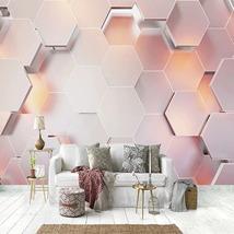 """3D Wallpaper """"Pink Geometric Wall"""" - $35.00+"""