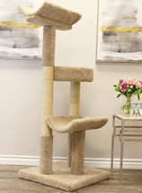 "56"" TALL SOLID WOOD DOUBLE SCRATCHING POST CAT TOWER-*FREE SHIPPING IN T... - £151.52 GBP"