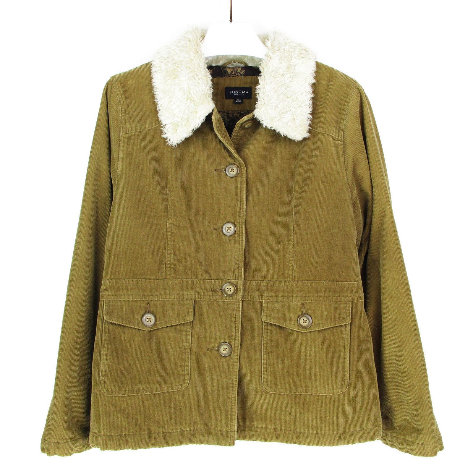 Womens XL Barn Coat Corduroy Jacket Plus Size X Large ...