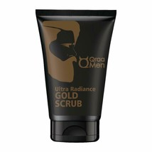QRAA Men Ultra Radiance gold Scrub with 24k Gold 100g / 3.4 fl oz Free S... - $23.35