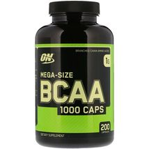 Optimum Nutrition, BCAA 1000 Caps, MegaSize, 1,000 mg, 200 Capsules, Amino Acids - $29.99