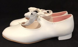 CAPEZIO Womens White Mary Janes Tap Dance Shoes Size 1.5 W Dance Makers ... - $13.95