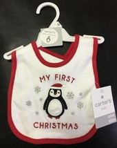 NEW Carter's MY FIRST CHRISTMAS Bib BABY BOY or GIRL PENGUIN - $9.50