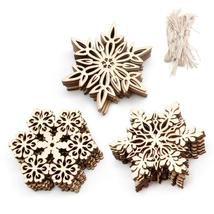 Pcs Wood Snowflake Embellishments Rustic Christmas Decorations For Home ... - $3.03