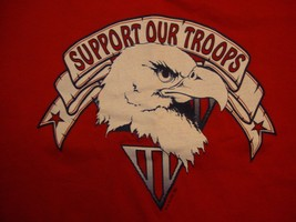 Vintage Support Our Troops Operation Desert Storm Red T Shirt Size L - $16.82