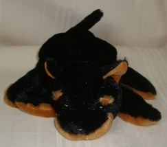 Dream BLACK & Brown Dog Hand Stage FIVE FINGER PUPPET STUFFED PLUSH Toy - $9.89