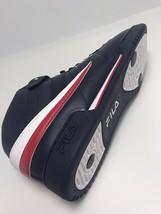 Men's Fila Black | White | Red Original Fitness High Top Sneakers  - $69.00