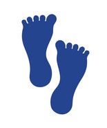 LiteMark 7 Inch Blue Removable Barefoot Decals for Floors and Walls 12 Pack - $19.95