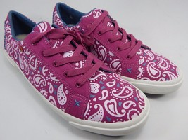 UGG I Heart Lace Up Paisley Sneakers Shoes Women's Size 7 M 1009401 Fuchsia Pink