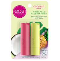 Super Soft Shea Stick Lip Balm, Coconut Milk and Pineapple Passionfruit,... - $9.99