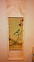 Chinese Hand Painted Hanging Scroll - Bird and Flowers - $127.71