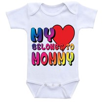 My Heart Belongs to mommy, Cute Gift Baby Bodysuit By Apparel USA™ - $16.95