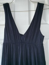 J Crew Maxi Tank Dress sz XS Dark Blue Elastic Empire Waist V-Neck 77895 - $17.79