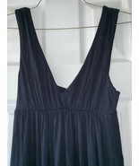 J Crew Maxi Tank Dress sz XS Dark Blue Elastic Empire Waist V-Neck 77895 - $17.79