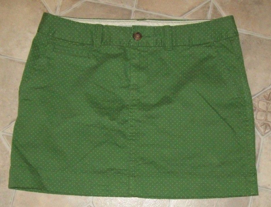 OLD NAVY SKIRT ~ WOMEN'S SIZE 4 ~ GREEN POLKA DOT ~ STRETCH ~ EUC - $12.95