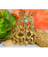 Vintage Jacques Lipchitz Dove Peace Judaica Brooch Pin Pendant Israel  - $52.95