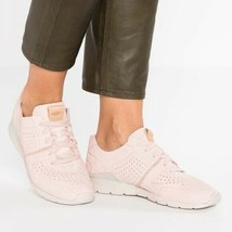 UGG Australia TYE LEATHER Sneaker Shoes Women Size 9 $140.00 Blush PInk - $46.36