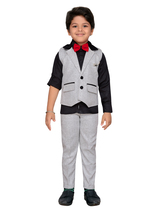 Kids Indian Wear Bollywood Style Shirt Waistcoat and Pant for Boys - $34.95