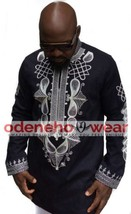 Odeneho Wear Men's Polished Cotton Top& Bottom/Embroidery.African Clothing. - $133.65+