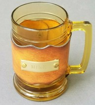 Mike Beer Mug Glass Leather Cozy Wrap - $20.90