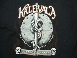 "Vintage Kalevala ""The Finnish Folklore Legend"" Metal Black T Shirt Size XL - $19.79"