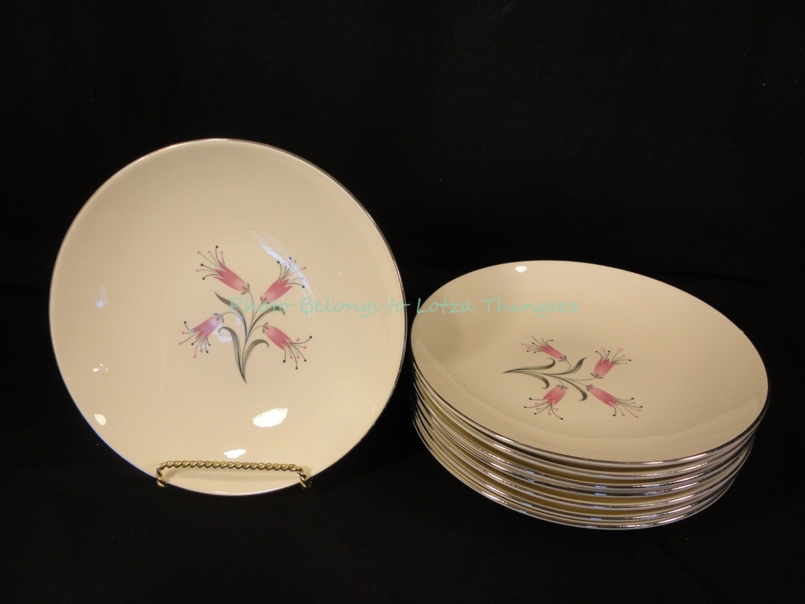 Homer Laughlin Floral China Coupe Soup Bowls Set of 8 RY356