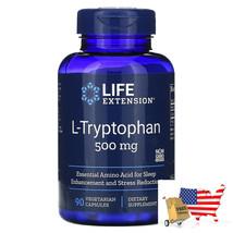 Healthy Sleep Mood L-Tryptophan 500mg 90 Vegetarian Capsules Life Extension - $40.56