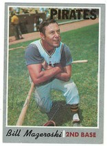 Bill Mazeroski Signed 1970 Topps Card / Autographed Pirates JSA - $27.15