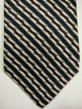 NEW Jhane Barnes Original Fabric Made in Japan Blue Burgundy and Gold St... - $29.99