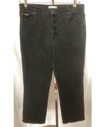 LEE Women's Relaxed STRAIGHT LEG Black Denim Jeans Size 16 Medium (32 x ... - $13.95