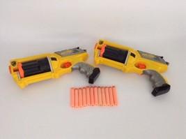 Maverick Rev-6 Revolver Blasters with Darts Nerf Gun Lot of 2 Hasbro Nerf Guns - $32.92