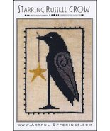 Starring Russel Crow cross stitch chart Artful Offerings  - $9.00