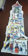 Lighthouse Shaped Puzzle 600 Pieces Great American Puzzle Factory Roger Bansemer - $19.79