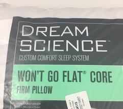 Martha Stewart Dream Science Firm Pillow Wont Go Flat Core Standard Queen - $34.60
