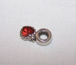 Pandora Sterling Silver Charm w/Red Dangle Heart image 3