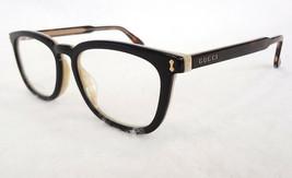 GUCCI Frame Glasses GG0126OA Black/Avana Acetate 53-18-150 MADE IN ITALY... - $235.00