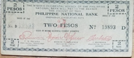 PHILIPPINE Misamis Occidental Emergency Circulating Two Peso Note # 19893 1942 - $4.95