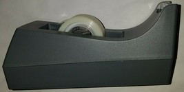 "Scotch Tape Desktop Dispenser Grey or Black 1"" core weighted non-skid - £3.00 GBP"